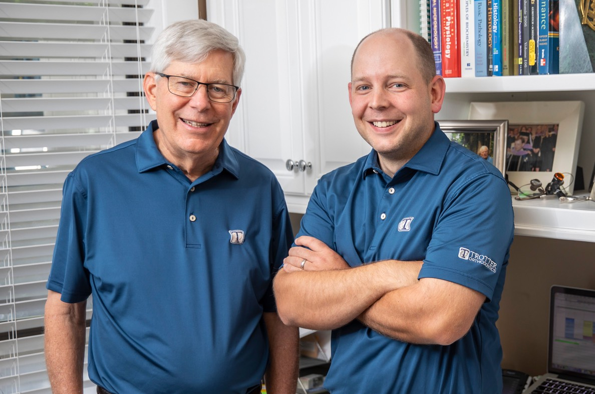 Dr. Barret and Dr. Paul Trotter