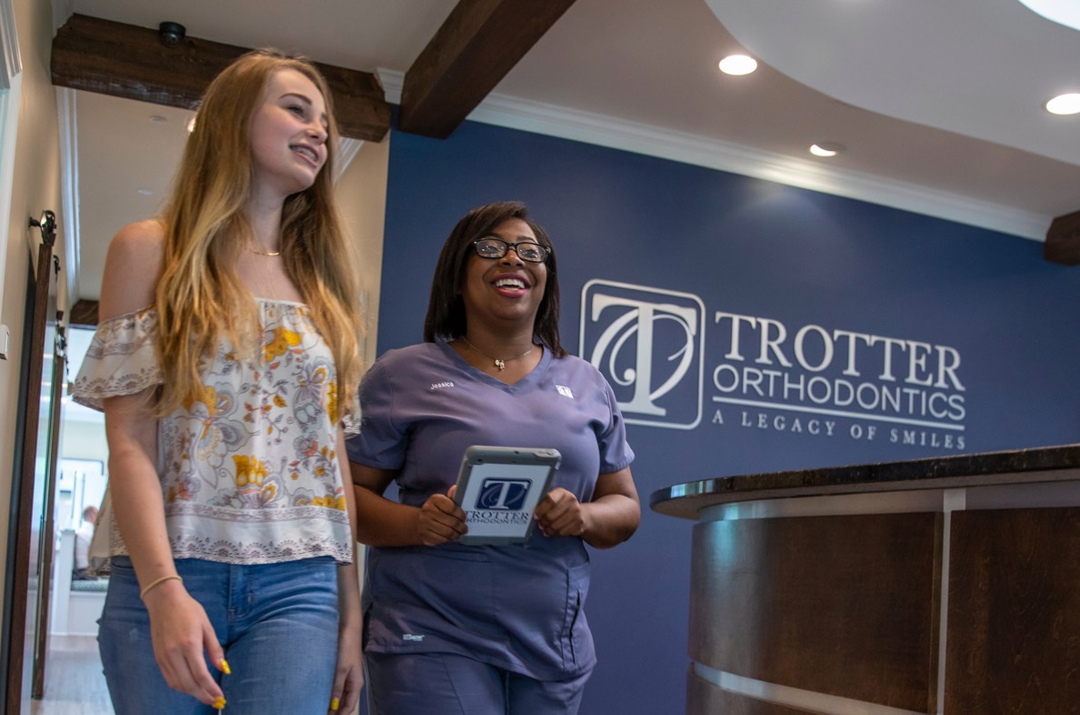 Patient and Staff member at Trotter Orthodontics